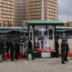 Buhari, Lawan, Gbajabiamila, arrive Eagles Square (photos & video)