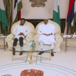 Photos: Buhari receives President International Criminal Court in Abuja
