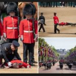 Two Guardsmen Faint During Rehearsals For The Queen's Birthday Celebration (Photos)
