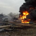 Video: Pipeline explosion in Ijegun, Lagos suburb