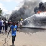 Fuel tanker explodes along Gombe-Bauchi road (photos)