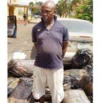 Man arrested with 17 sacks of hemp (photos)