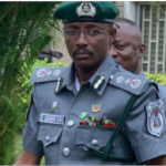 Self-promoted Customs officer undergoing medical examination