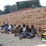 Police Arrest 10 For Stealing 410 Generators And 560 Gallons Of Engine Oil (photos)