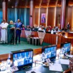 20 Rare Photos From Buhari's Swearing In Of Ministers and Their Portfolios