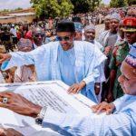President Buhari Today Paid A Sympathy Visit To IDPs In Batsari Katsina State (photos)