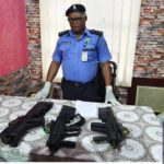 See The Military Grade Rifles, Tavor Tar-21 Recovered From Suspected Kidnappers In Rivers State