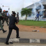 Armed Police Officers, Soldiers Clash With #revolutionnow Protesters In Lagos (Photos & Video)