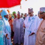 Buhari, Guinean President, Others Observe Eid Prayer In Daura