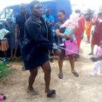 PHOTOS: Woman Who Allegedly Stole Indomie From Orphanage Home Chained And Paraded