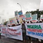 PHOTO & VIDEO: CSOs Protest At British, Irish Embassies Over P&ID $9.6b Judgement