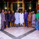 PHOTOS: Buhari hosts TUC leaders in Aso Villa