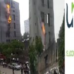 Breaking: Fire Guts Unity Bank Victoria Island Branch (VIDEO & PHOTOS)