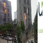 Breaking: Fire Guts Unity Bank Victoria Island Branch (VIDEO & PHOTOS)