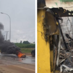 Barely 24hrs After Ibadan, Lagos Attacks, MTN Abuja Office Under Attack By Mob (photos)