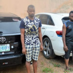 EFCC Arrests Two Yahoo Boys, Retrieve Expensive Cars And Phones In Ibadan