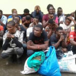 PHOTOS: Lagos State Task Force Raids Surroundings Of 'African Shrine', Arrests Miscreants, Illegal Street Traders