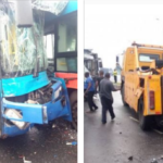 PHOTOS: Many Injured As Two BRT Buses Collide In Ikorodu