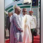 Buhari arrives Ouagadougou for ECOWAS Summit on Counter-Terrorism