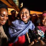 """I am happy to be home"": Aisha Buhari"