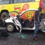 PHOTOS: Multiple Accident Grounds Traffic On Otedola Bridge, Many Trapped — LATSMA