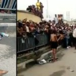 Confusion As N*ked Woman Appears On Lagos Road In Broad Daylight Looking Emaciated (VIDEO)