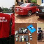 PHOTOS: EFCC Arrest Woman, Eight Suspected Fraudsters In Enugu