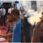 VIDEO: Ghanian Pastor, Rev Obofour Asks Man To Smoke Marijuana During Church Service