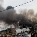 Fire Outbreak At Akerele Mall In Surulere, Lagos