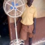 Nigerians Hail Teenage Boy Who Built Wooden Standing Fan