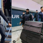 Anthony Joshua Lands In Saudi Arabia Ahead Of Rematch With Andy Ruiz Jr. (photos)