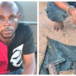 PHOTOS: Police Arrest Suspected Armed Robber, Recover 3 Local Pistols And Ammunitions In Asaba