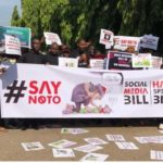 Protesters Storm NASS Over Hate Speech Bill, Demand Sowore's Release (Video/Photos)