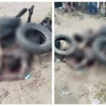 PHOTOS: Angry Mob Sets Two Suspected Phone Thieves Ablaze In Warri