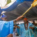 PHOTOS: Akeredolu Presents Staff Of Office To Olowo Of Owo