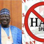 Senate Won't Pass Hate Speech Bill – Senate President, Ahmed Lawan