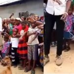 Viral Video: Pastor Use Goat As Point Of Contact As He Leads Members In Prayers