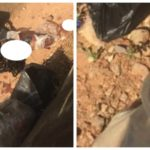 PHOTOS: Tension In Abuja Community As Severed Head And Body Parts Of Unknown Woman Found By Roadside