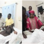 Days After Attack In Otuoke, Goodluck Jonathan Visits Injured Soldier At The Hospital (photos)