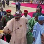 VIDEO: Buhari Lays Foundation Stone For Construction Of University Of Transportation In Daura