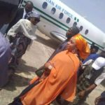 PHOTOS: Anger As Buhari's Daughter Arrives Bauchi In Presidential Jet For 'Special Durbar' Photoshoot