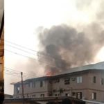 VIDEO & PHOTOS: Two Children Rescued As Fire Guts Building In Ketu, Lagos