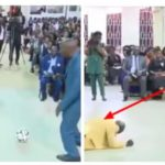 Pastor Performs Deliverance On Church Members Using Football (Photos & Video)