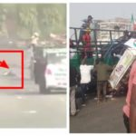 Watch the reckless driving that caused accident during PDP protest in Abuja yesterday (Photos &Video)
