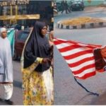 Soleimani: Shiites Protest In Abuja, Burn US Flag (PHOTOS)