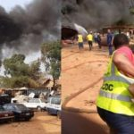 Tanker Explodes Inside Mechanic Workshop In Anambra – (Photos)