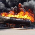 BREAKING: Another Petrol Tanker Explodes At Alaba