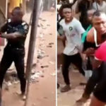 VIDEO: The Story Behind Viral Video Of DPO Fighting In Public Over N7,000 In Owerri