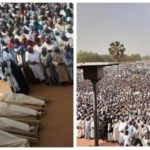 PHOTOS: Mammoth Crowd Attend Funeral Of Emir Of Potiskum's Aides Killed By Gunmen