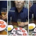 VIDEO: Amidst Lassa Fever Outbreak, Asian Man Dips Baby Mouse In Sauce And Eats It Alive